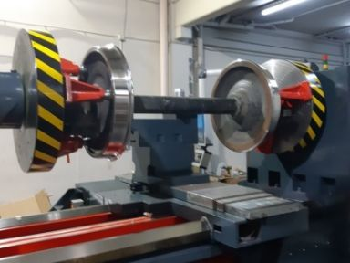 CW 2000 Floor Mounted Cnc Train Wheel Lathe Cycle
